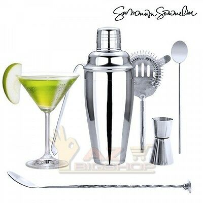 Kit cocktail 6 pz Bar Discoteca Vodka Somelier Dosatore New frutta Shaker Vino