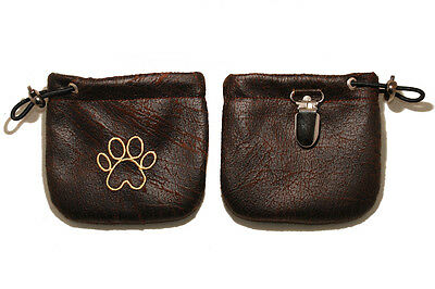 Embroidered Dog treat pouch/bag - for dog shows and training. Image - paw