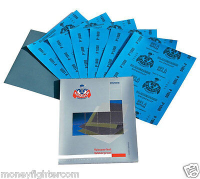 Wet and Dry Paper Sandpaper 80 - 7000 Grit Waterproof Germany / China / Japan