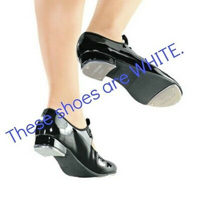 So Danca TA35 Toddler 8 Medium White Classic Tie-Up Tap Shoes (WITH DEFECTS)