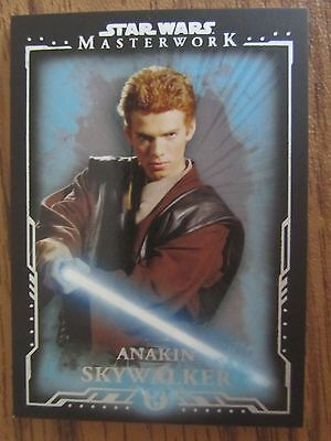 2015 Topps Star Wars Masterwork Blue Parallel #3 Anakin Skywalker