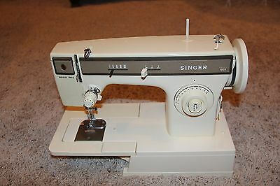 Vintage Singer Merritt 1802 Zig Zag Sewing Machine with manual and foot peddle