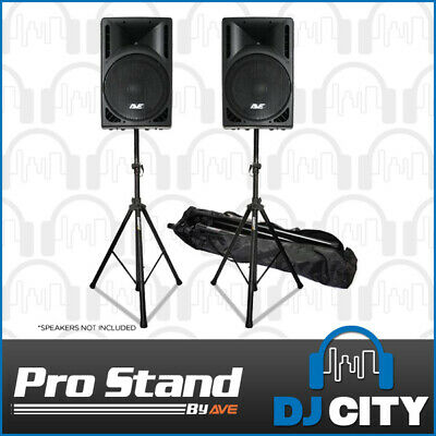 PA Speaker Stands Pair & Bag Strong Aluminium 35mm 30Kg PA Professional DJ Stage