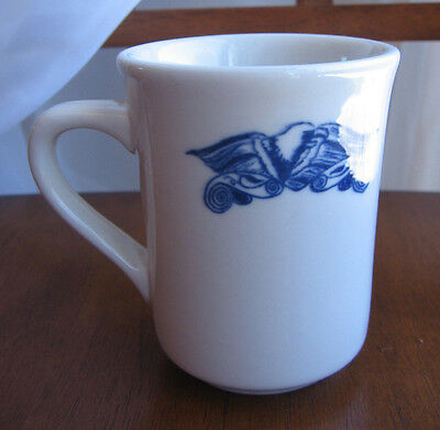 VTG Blue American Eagle Syracuse China Cobalt Handled Mug Restaurant