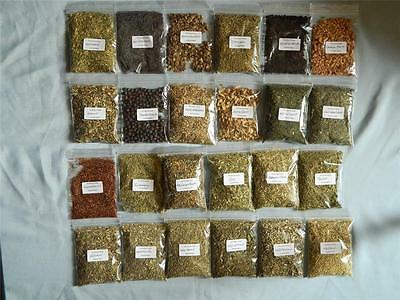 Herbs for Witchcraft CHOOSE FROM 24 different herbs and flowers in 20gram packs