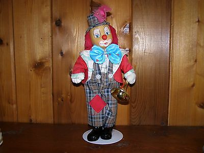Hobo Clown With Trumbone And With Stand