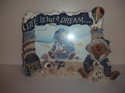 BOYDS BEARS & FRIENDS Picture Frame-Life Is But A Dream-FIRST ED-Beach Sea Shore