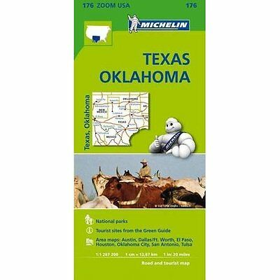 Texas-Oklahoma Zoom Map 176 Michelin Editions des Voyages Sheet f. 9782067190924