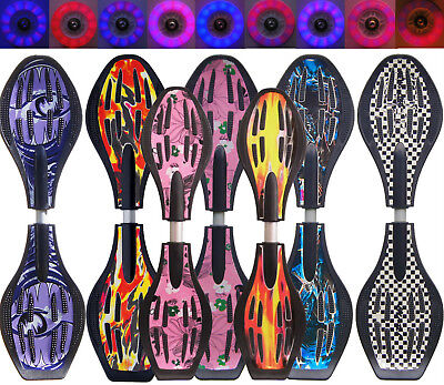 NIK FUNSPORT® Waveboard & mini Waveboard ABEC 7, Super LED-Rollen, Speed-Rollen