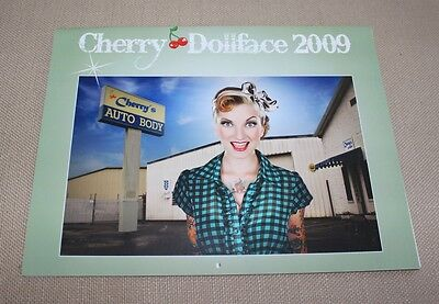 vintage 2009 Cherry Dollface 13 month calendar SIGNED!
