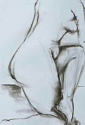 FAY3 by ArtZlata charcoal/ink/pencil paper 59x40cm nude drawing painting fantasy