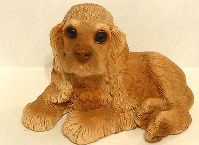 Cocker Spaniel Classic Critter,1984, Handpainted, Handcast, Made In U.S.A.