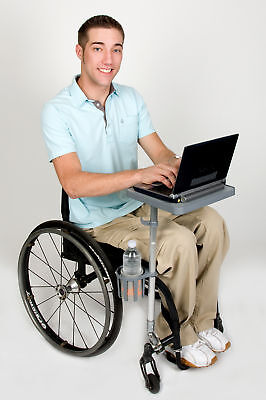 Livingeazy ezEnabler Mobility Laptop Tray Stand Table Cupholder Wheelchair