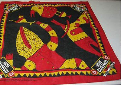 20X20 Jose Cuervo Primo Tequila Bandana Handkerchief Licensed Red Yellow Black