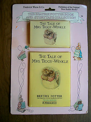 The Tale of Mrs. Tiggy-Winkle Beatrix Potter book & cassette new unopened rare!