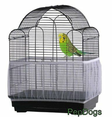 Prevue SEED CATCHER Seed Guard Mesh Bird Cage Cover Skirt Traps Cage Debris
