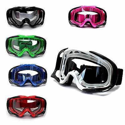 Clear lens Motocross Motorbike MX Goggles Anti-fog UV protection dirt/trail bike