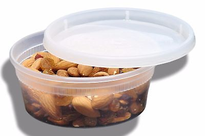 8 oz Microwaveable Deli Food Containers W/ Lids
