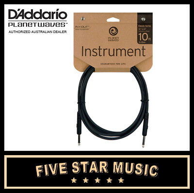 D'addario Planet Waves Classic Guitar Cable 10' Pw-Cgt-10 Ten Foot Lead New