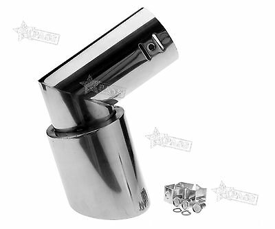 Stainless Steel Drop Down Car Vehicle Exhaust Tailpipe Tip Trim