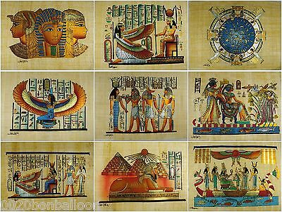 "Wholesale Egyptian 20 Pcs  Original Hand Painted Papyrus  8""X12"" ( 20x30 Cm )"
