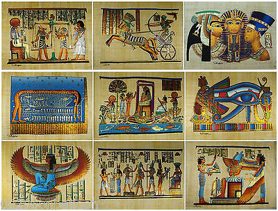 "Wholesale 20 Pcs Egyptian Original  Hand Painted  12""x16"" (30x40 CM)  Papyrus"