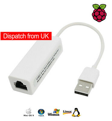 USB 2.0 Ethernet LAN Adaptor Internet Converter Wired Network Cable Win Mac OS