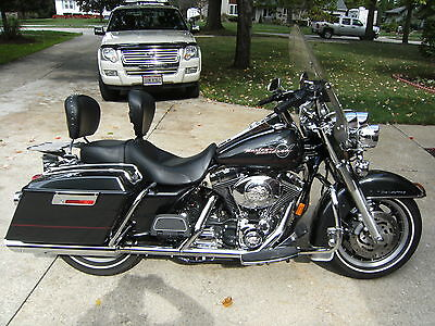 Harley-Davidson : Touring 2006 road king flhr black pearl very good condition a must see