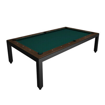 Black Powder Coated Fusion Pool Table - Wood Top