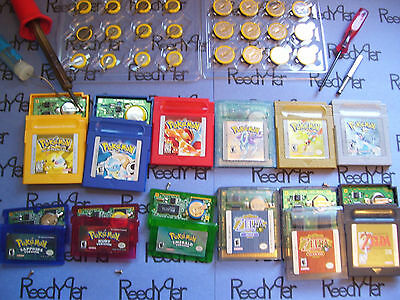 GAME SAVE BATTERY REPLACEMENT & POKEMON EXTRAS REPAIR SERVICE Game boy Color gba