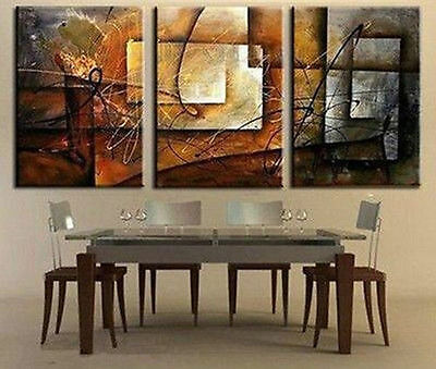 3PC Large Modern Abstract Art Oil Painting Wall Deco canvas(no framed)