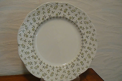Forget Me Not White Ironstone Dinner Plate J & G Meakin England Post 1968