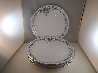 Lovely Hira Fine China Japan Olympia Set of 4 Dinner Plates Pink Flowers