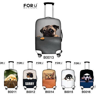"""Cute Animal Dog Dust-proof Waterproof Protector Luggage Cover for 20"""" 24"""" 28"""""""