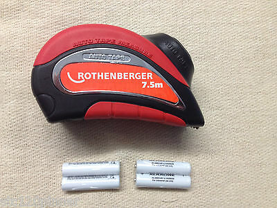 Rothenberger 19764 Automatic Powered Steel 7.5 M Tape Measure Metric / Imp