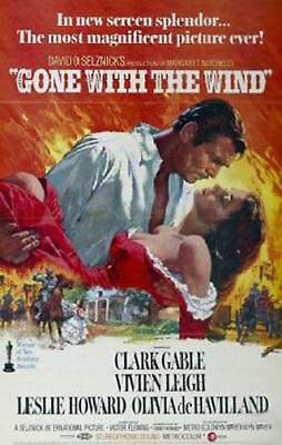 Gone with the wind Clark Gable #8 movie poster print