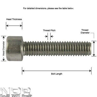 Socket Cap A2 Stainless Steel Screws/Bolts Allen/Hex Head *ALL SIZES/LENGTHS*