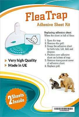 Flea Trap Ecological Dog/Cat Pet 2 Replacement Adhesive Pad Refill Sheets NEW