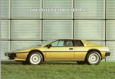 Lotus Esprit S3 1983-84 UK Market Foldout Sales Brochure
