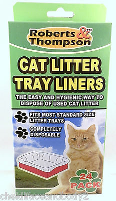 Brand New Cat Litter Disposable Tray Liners Fits Most Standard Sizes
