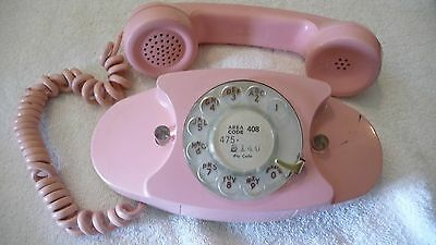 Vintage Princess Dial Phone 701B in Pink Western Electric The Bell System