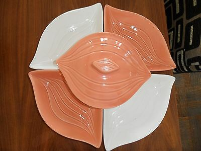 Mid-Century California Pottery L34 Relish/Dip Lazy Susan with Turn Style Base