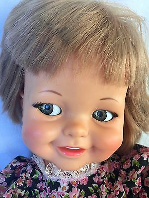 Vintage 1966 Ideal Toy GIGGLES DOLL Eyes Move Flirty Eyes CUTE!!!