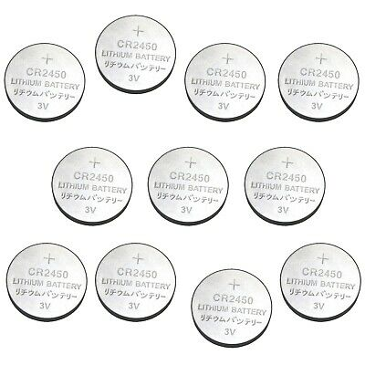 10x CR2450 ECR2450 5029LC BR LM DL CR 2450 DSL2450 3V Button Cell Battery Bulk