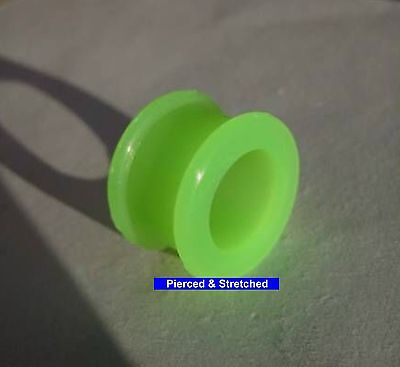 ONE 16mm DOUBLE Flare TUNNEL Green SILICONE Tunnel - Tunnels & Plugs