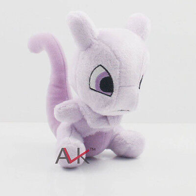 "6"" 15CM Mewtwo Pokemon Cute Soft Plush Toy Doll Kids Gift New"