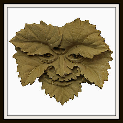 The Vine Leaf Green Man ~ Greenman Wall Plaque ~ Garden Or Indoors  ~Uk Made
