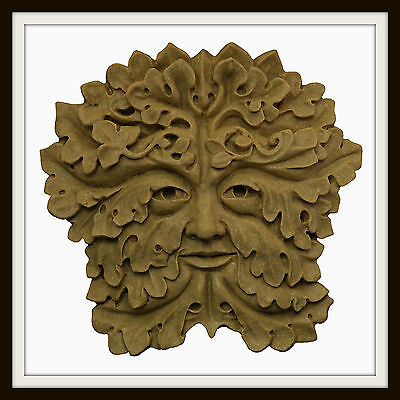 The Gothic Green Man ~ Greenman Wall Plaque ~ Garden Or Indoors ~ U.k. Made