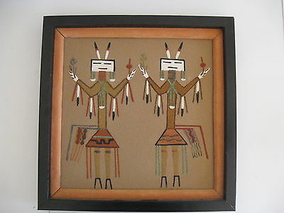 Native American Sand Painting - Framed