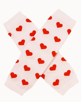 NEW! Valentines Day Pink with Red Hearts Cotton Legwarmers 0-6 Years